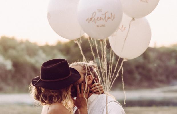 Paar mit Ballon